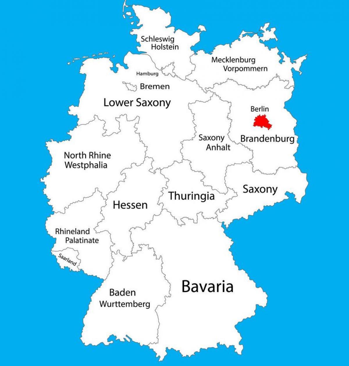 Berlin Germaniya Karta Germanii Pokazyvaet Berlin Germaniya